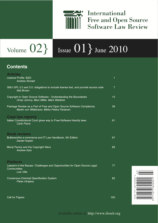 IFOSSLR Vol 2, Issue 1 cover