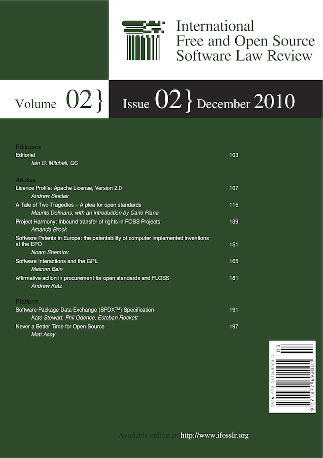 IFOSSLR Vol 2, Issue 2 cover